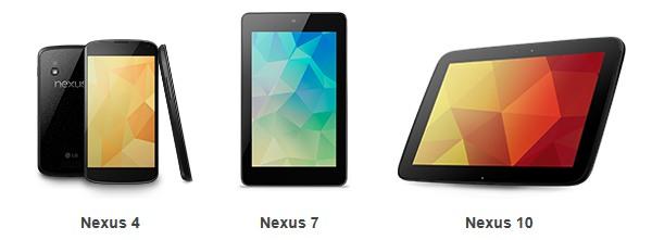 Google Nexus Lineup