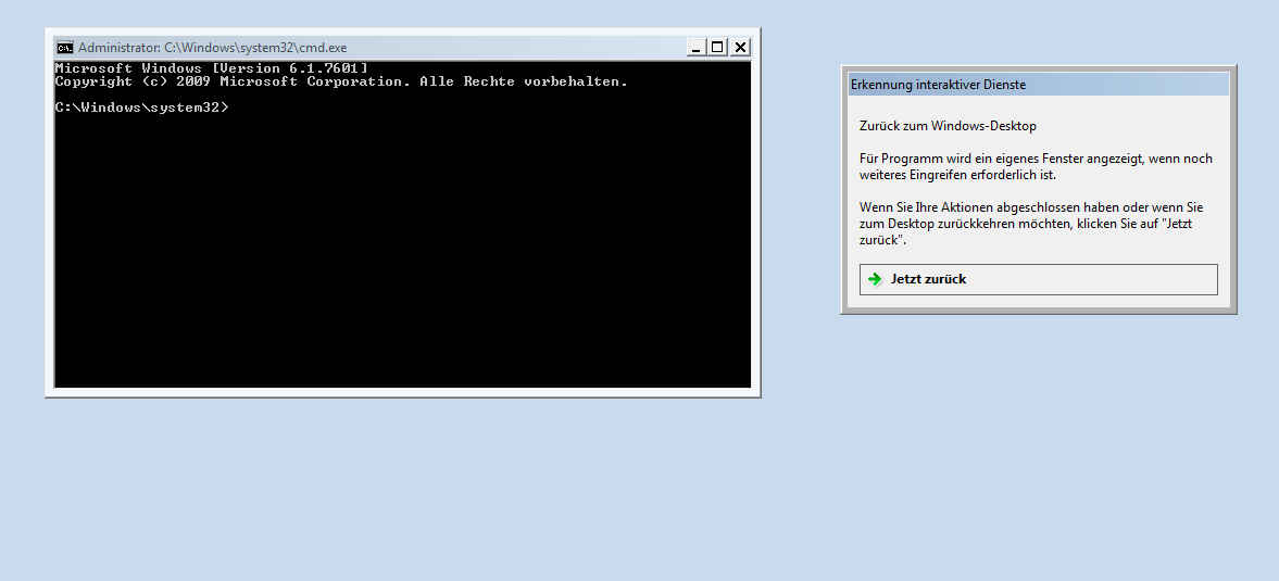 Session 0 Desktop