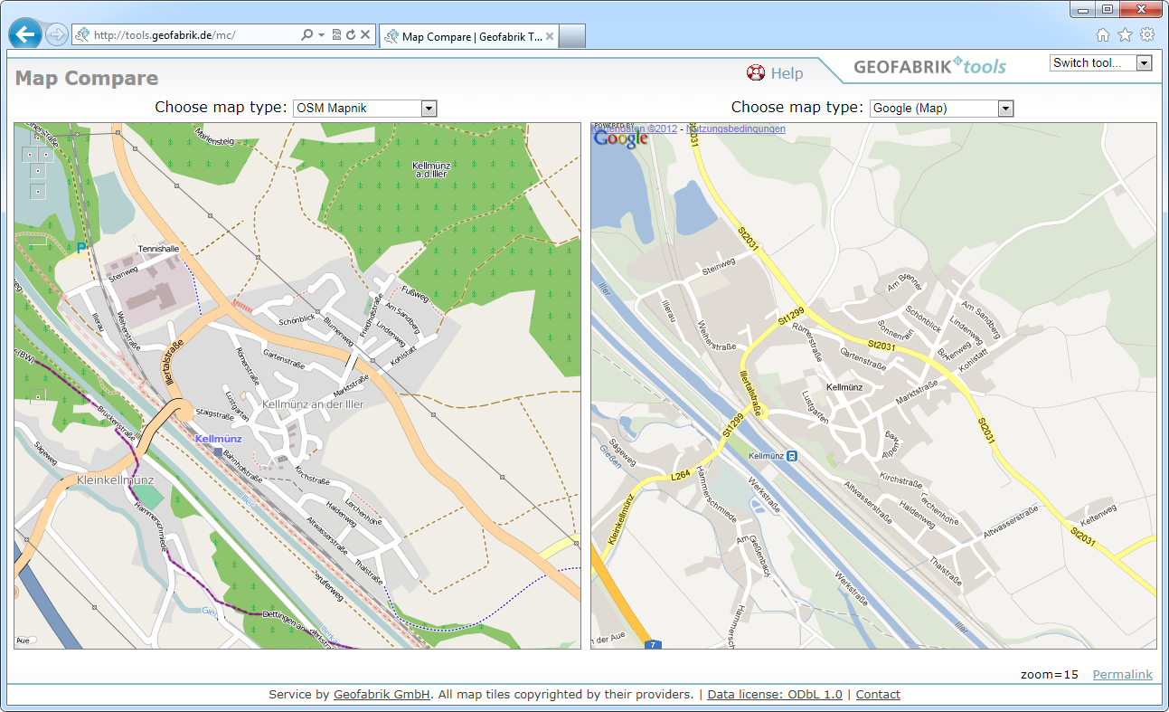 OpenStreeMap Vs. Google Maps