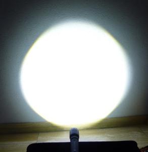 LED Lenser M7RX - defokussiert Power Modus (100%)