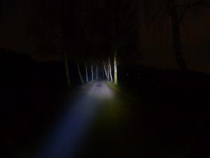 LED Lenser M7RX - fokussiert Low Power Modus (15%)