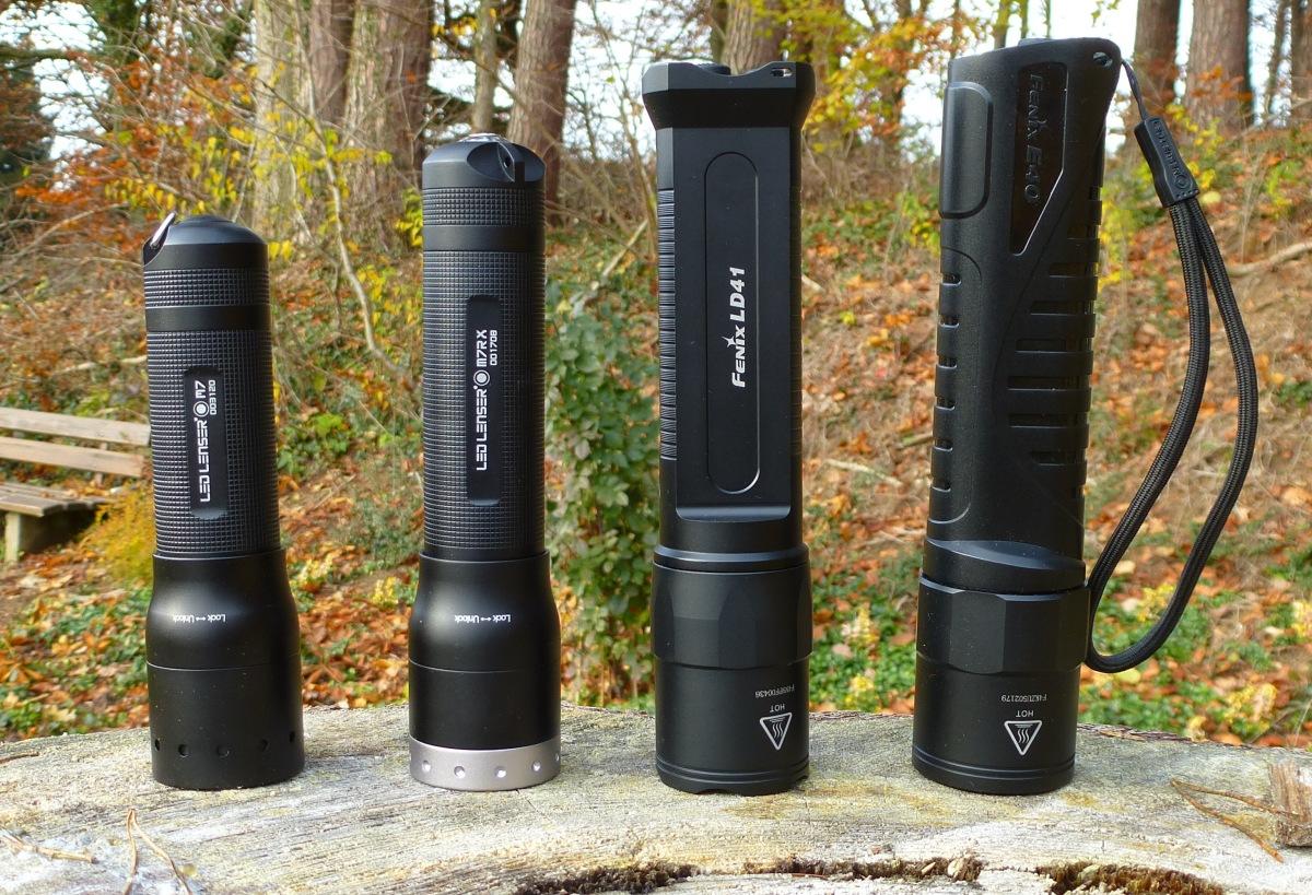 LED Lenser M7RX - Größenvergleich