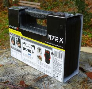 LED Lenser M7RX - Koffer mit Infos von hinten