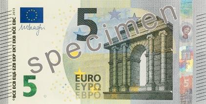 Neuer 5-Euro-Schein Vorderseite