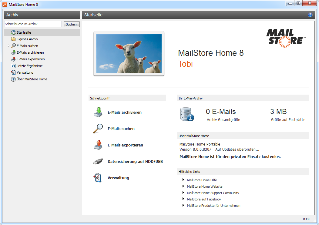 MailStore Home 8