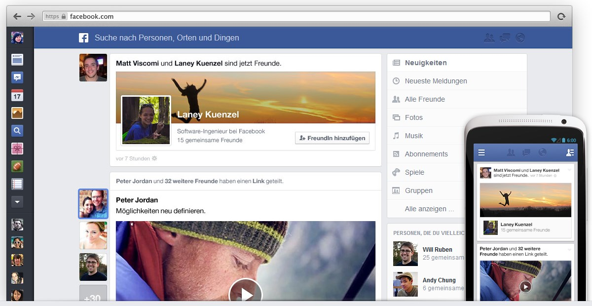 Facebook neuer Newsfeed