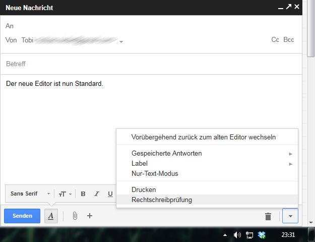 neuer Gmail Editor
