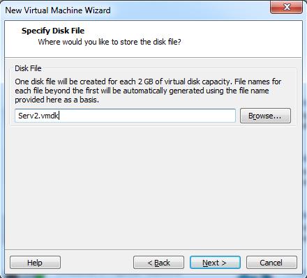 Abbildung 14: Speicherort der virtuellen Festplatte