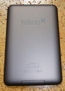 Tolino Shine Rückseite