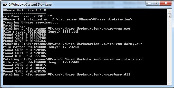 Abbildung 4: VMware Unlocker