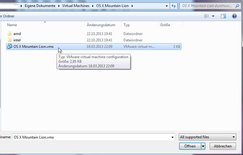 Abbildung 5: VMX-Datei auswählen