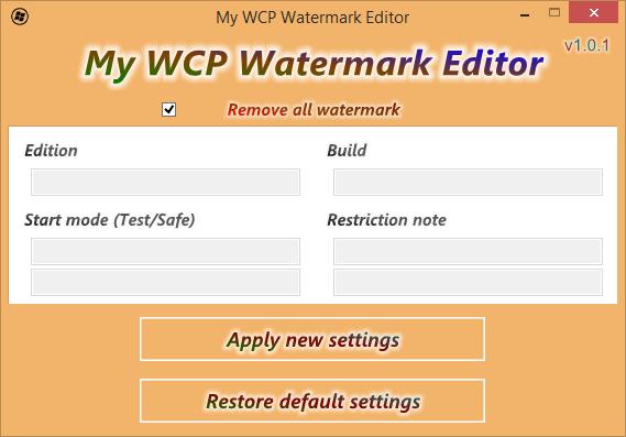 My WCP Watermark Editor