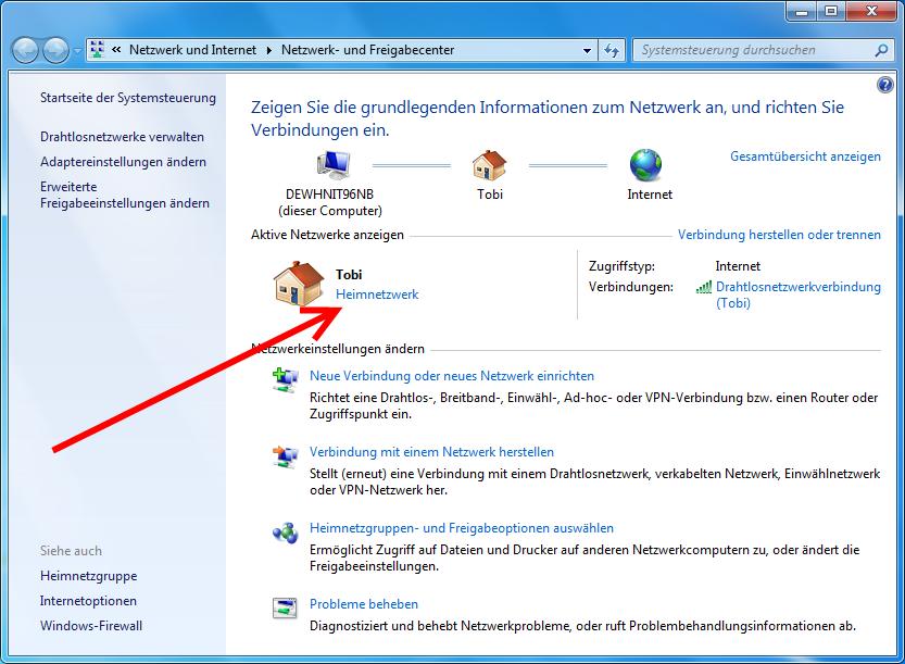 Netzwerk Und Freigabecenter Windows 10