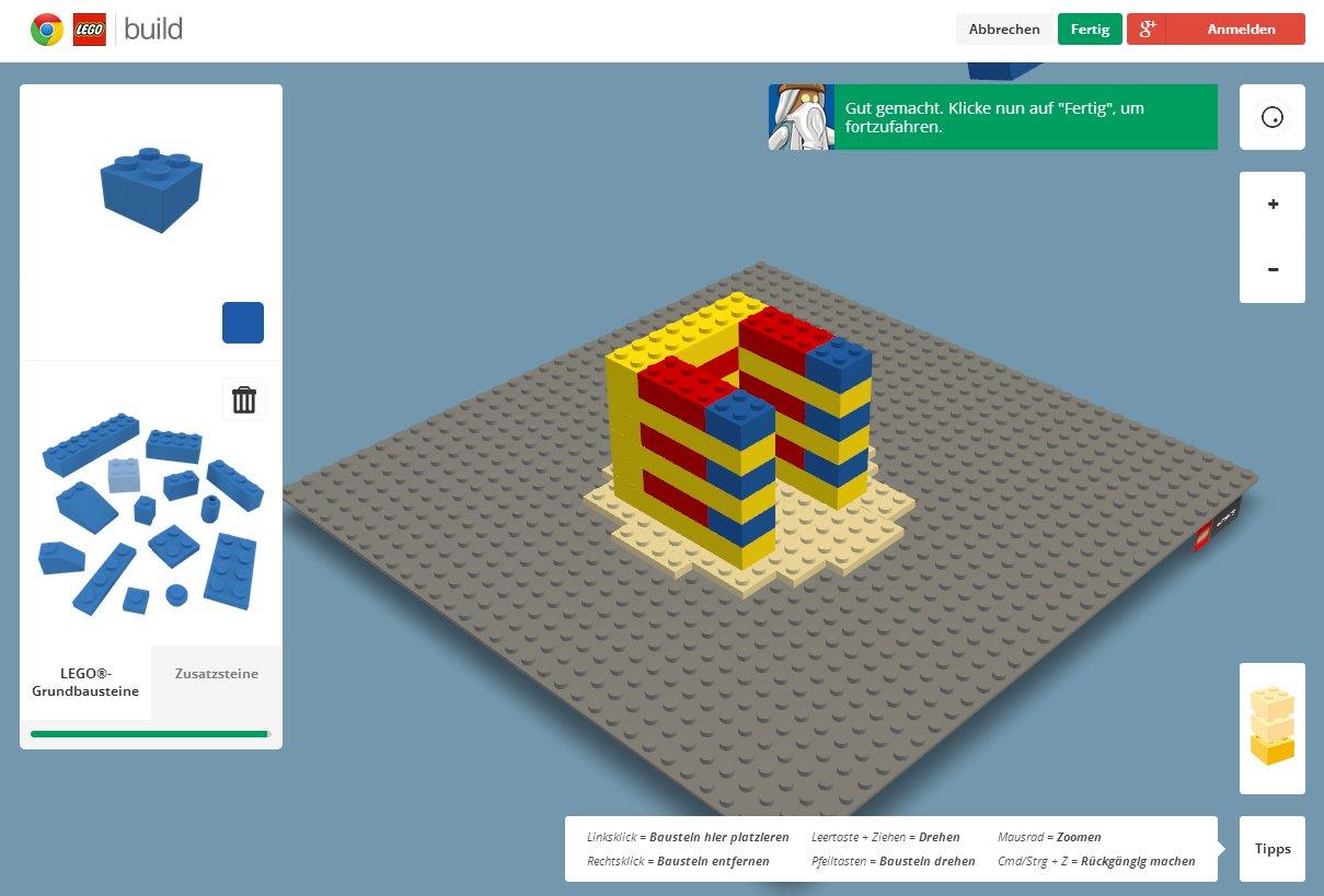 Lego bauen unter Google Chrome