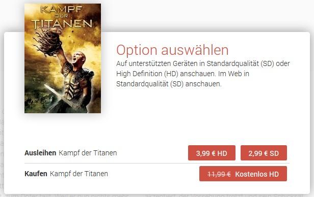 Google Play - Kampf der Titanen