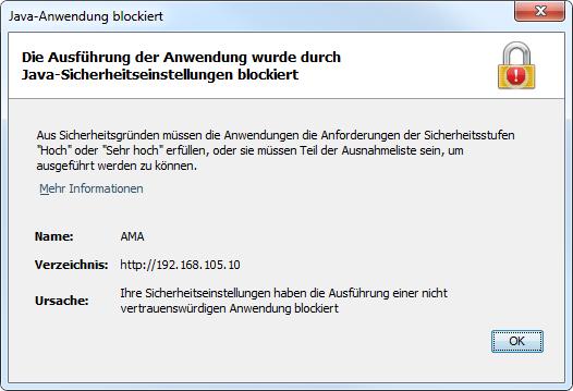 Java-Anwendung blockiert