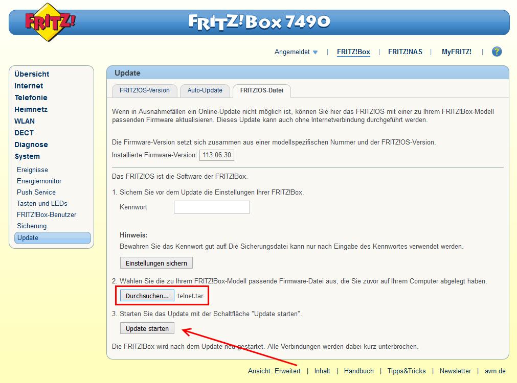 FRITZ!Box Pseudo-Image