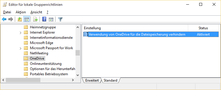 Windows 10 OneDrive deaktivieren