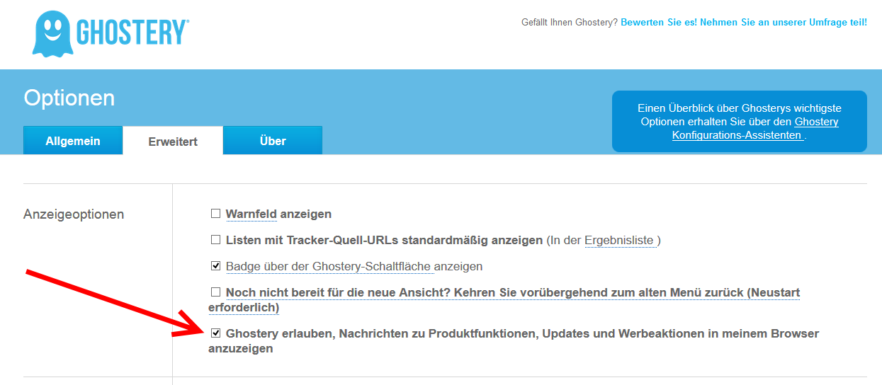 Ghostery Werbung