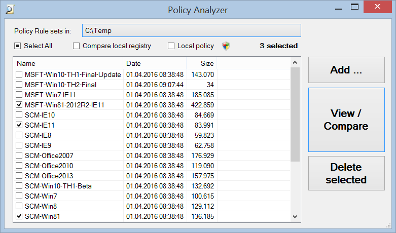 Policy Analyzer
