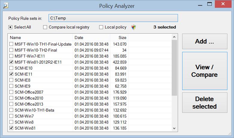 Policy Analyzer
