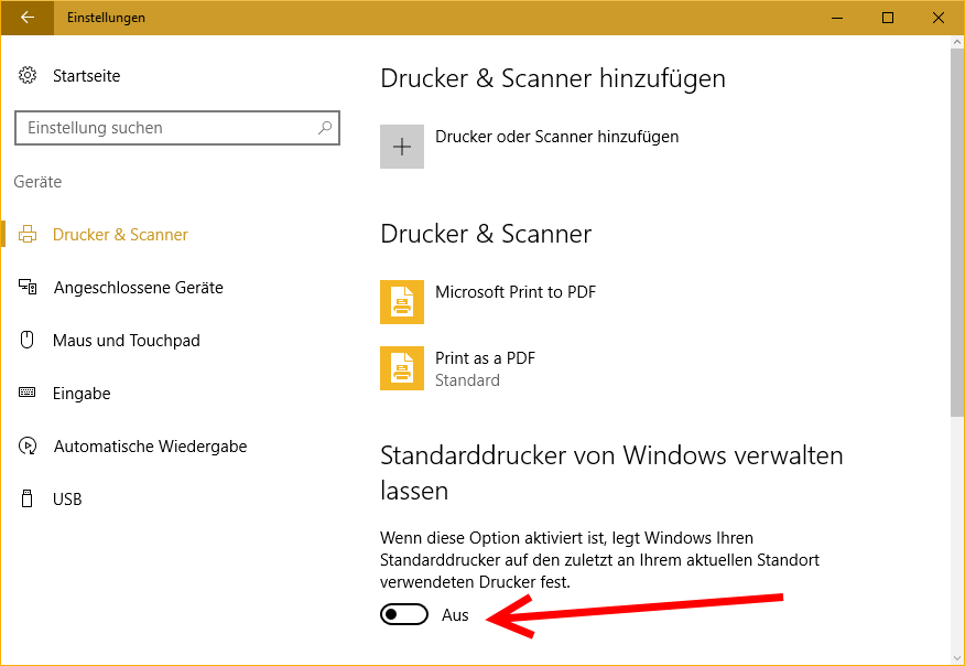 Windows10_Standarddrucker