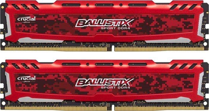 Crucial Ballistix Sport LT rot DIMM Kit 16GB, DDR4-2400, (BLS2C8G4D240FSE) (Bild: Crucial)