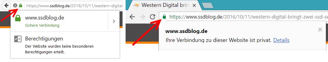 sichere HTTPS-Webseite