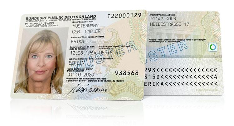 Muster des Personalausweises (Bild: Bundesministerium des Inneren)