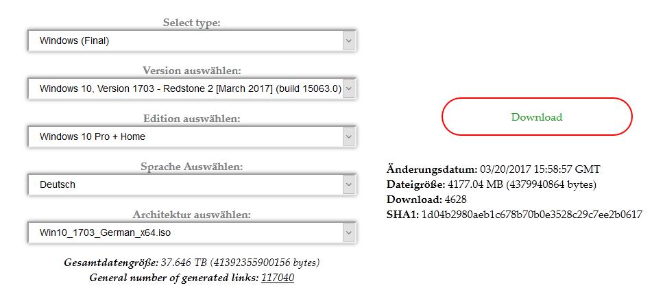 Adguard - ISO-Downloads von Microsoft