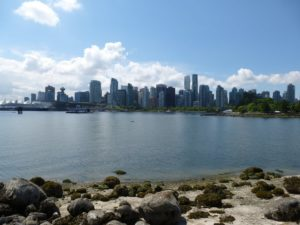 Blick auf Downtown Vancouver vom Stanley Park