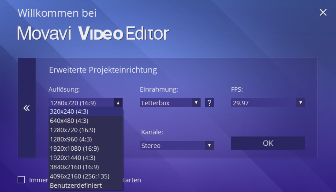 Movavi Video Editor Einstieg