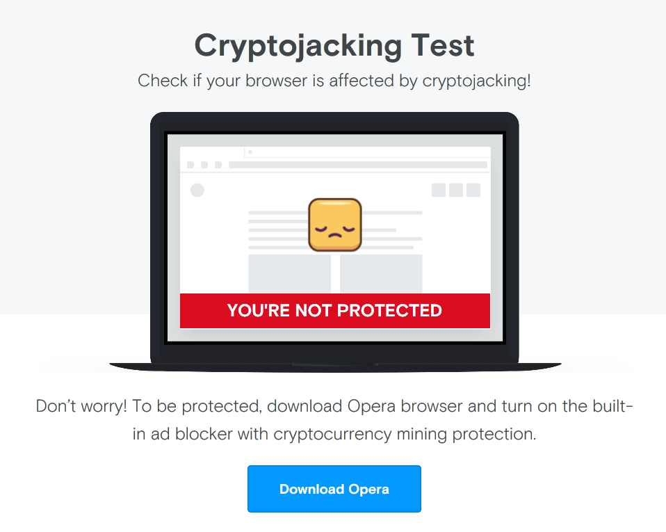 Cryptojacking Test Webseite