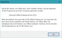 Office 2016 Setupfehler