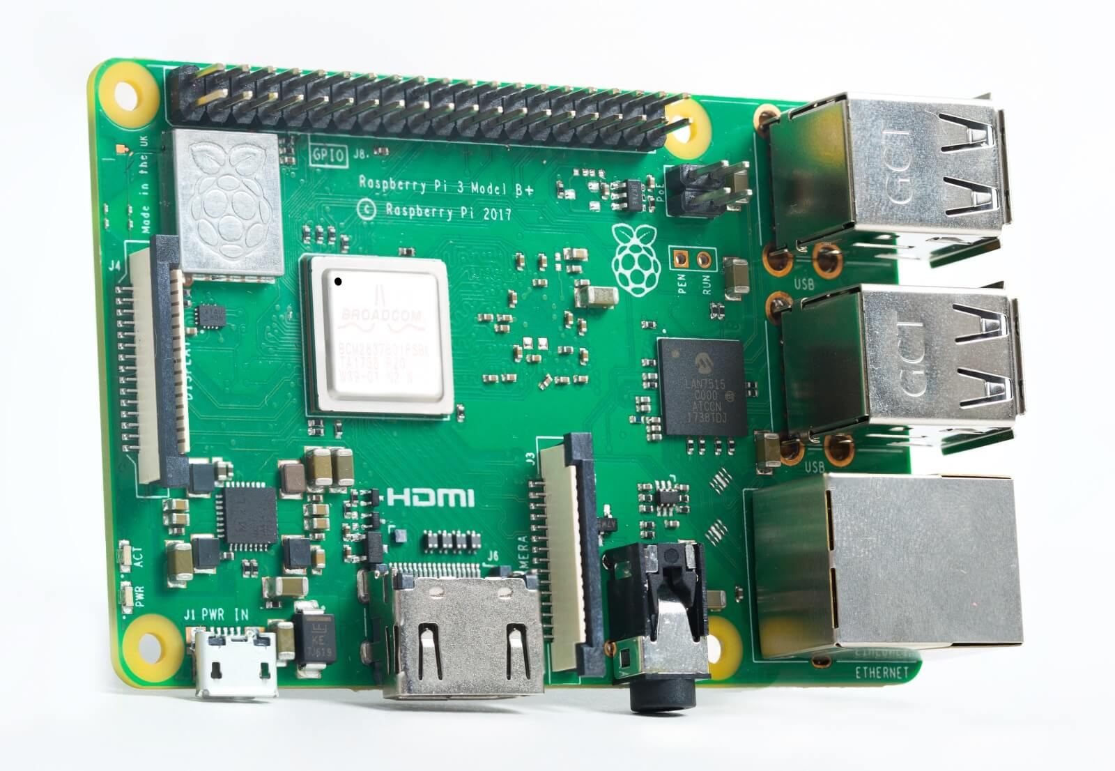 Raspberry Pi 3B+ (Bild: Raspberry Pi Foundation)