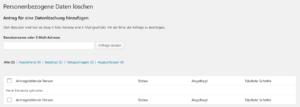WordPress - Personenbezogene Daten löschen
