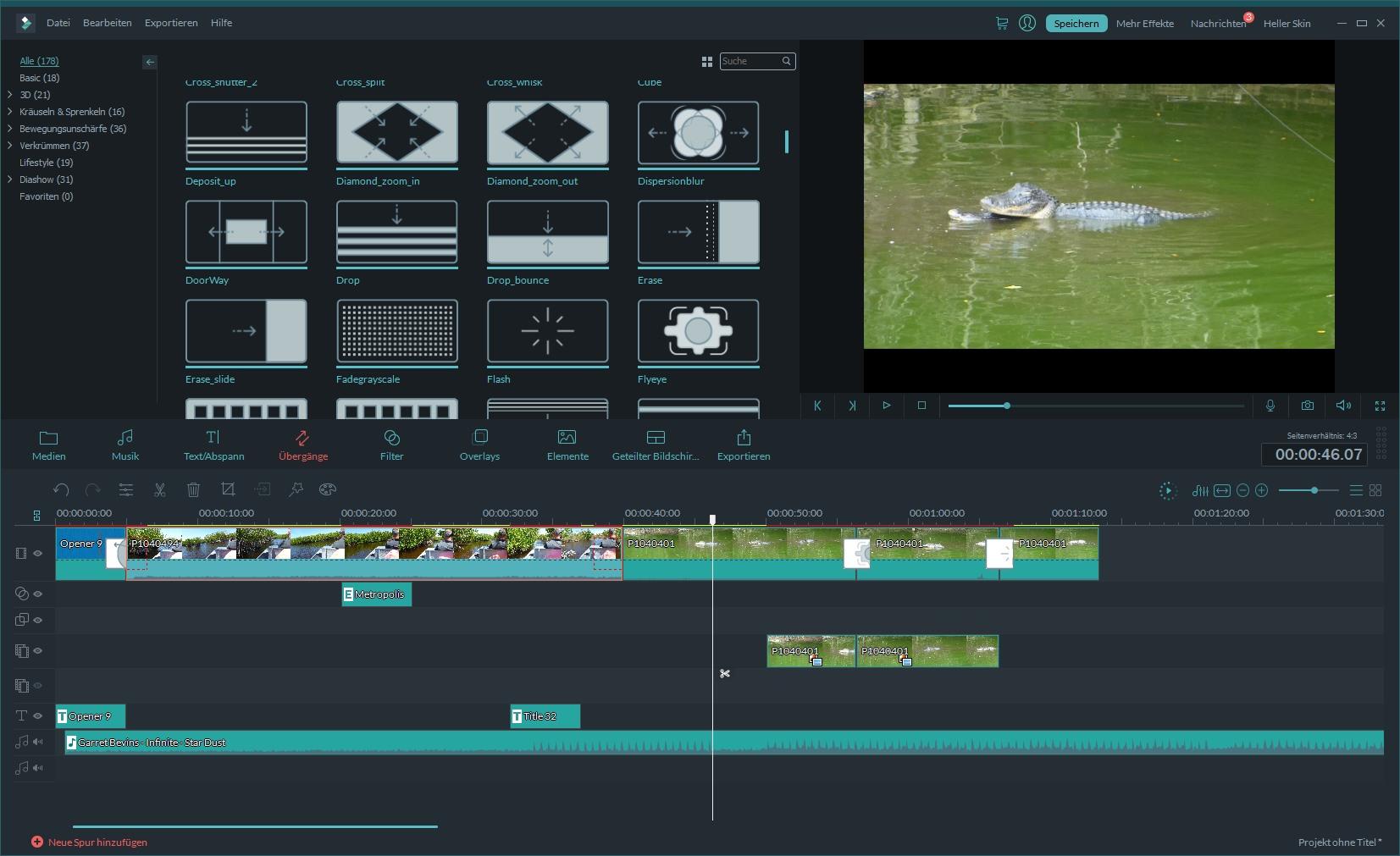 Filmora Video Editor Erweiterter Modus